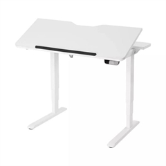 Električna miza z nagibno ploščo 30° UVI Desk, bela