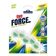 Osvežilec za WC školjko General Fresh Five Force Forest, obešanka