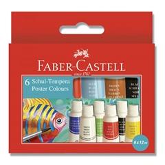 Tempera barve Faber-Castell, 6 kosov