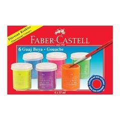 Tempera barve Faber-Castell Gouach, 6 kosov