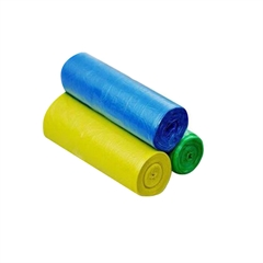 Vrečke za smeti HDPE, 60 x 70 cm, barvne, 80 L, 50 kosov