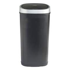 Koš za smeti VonHaus, črn, 50 L - z avtomatičnim odpiranjem in zapiranjem