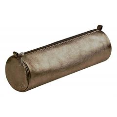Okrogla peresnica usnjena metalic Clairefontaine, rjava
