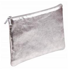 Ploščata peresnica usnjena metalic Clairefontaine, srebrna