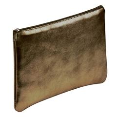 Ploščata peresnica usnjena metalic Clairefontaine, rjava