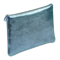 Ploščata peresnica usnjena metalic Clairefontaine, indigo