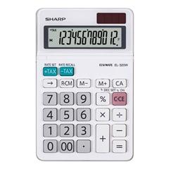 Komercialni kalkulator Sharp EL320W, bel - svetleč