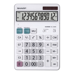 Komercialni kalkulator Sharp EL340W, bel - svetleč