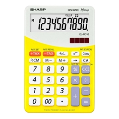 Komercialni kalkulator Sharp ELM332BYL, rumen