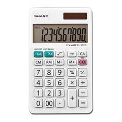 Namizni kalkulator Sharp EL310W, bel - svetleč