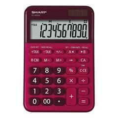 Namizni kalkulator Sharp ELM335BRD, rdeč