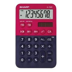 Namizni kalkulator Sharp EL760RBRB, modro-rdeč