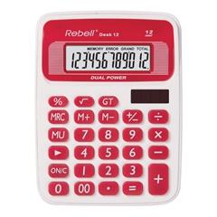 Namizni kalkulator Rebell 12 RD, belo-rdeč