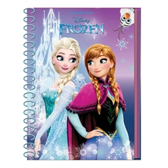 Beležka A6 Frozen, špirala, črtasta