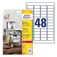 Etikete Avery Zweckform L4778-20, 45,7 x 21,2 mm, bele