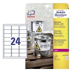 Etikete Avery Zweckform L4773-20, 63,5 x 33,9 mm, bele