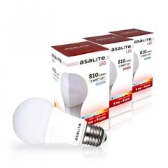 LED sijalka Asalite E27, 9W, 3000K