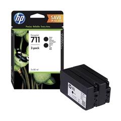 Kartuša HP P2V31A nr.711 (črna), dvojno pakiranje, original
