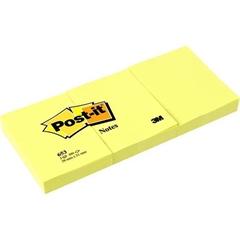 Blok samolepilnih lističev 653 3M, 38 x 51 mm, 3/1, rumen