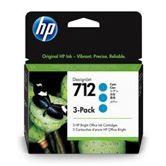 Kartuša HP 3ED77A nr.712 (modra), trojno pakiranje, original
