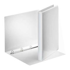 Mapa A4 PP 4-obroči Esselte, 29 mm, trde platnice, bela