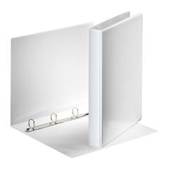 Mapa A4 PP 4-obroči Esselte, 35 mm, trde platnice, bela