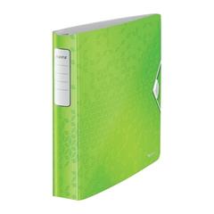 Mapa A4 PP 4-obroči wow Active Leitz, trde platnice, svetlo zelena
