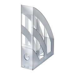 Namizni predalnik A4 Herlitz pokončen, translucent, siv