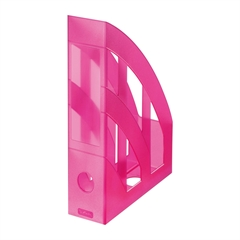 Namizni predalnik A4 Herlitz pokončen, translucent, malina