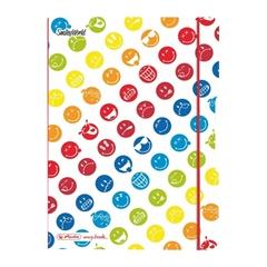Zvezek A5 Flex PP Smiley World Rainbow Herlitz, 40 listov, karo