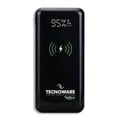 Prenosna baterija (powerbank) Tecnoware Qi Together, 10.000 mAh, črna