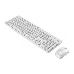 Tipkovnica Logitech MK295 z miško, brezžična, bela