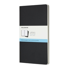 Beležnica Moleskine Cahier Journals LG trde platnice, črna - pike