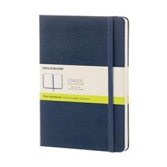 Beležnica Moleskine LG trde platnice, modra - brezčrtna