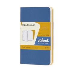 Beležnica Moleskine Volant Journals XS Forget mehke platnice, modro rumena - črtni