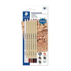 Pastelni lumografski svinčniki Staedtler Design Journey, 6 kosov