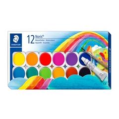 Vodene barvice Staedtler Noris, plastična embalaža, 12 barv