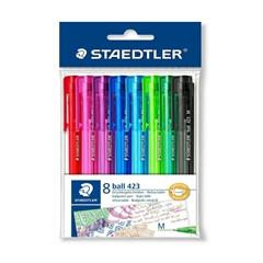 Kemični svinčnik Staedtler 423, 8 kosov, sortirano