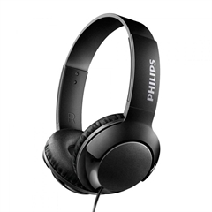 Slušalke z mikrofonom Philips Bass+ SHL3075, žične, črne