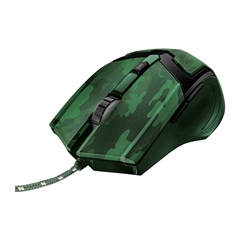 Miška Trust GXT 101C, žična, vojaška zelena