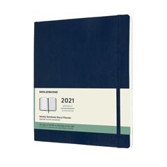 Planer XL 2021 Moleskine, mehke platnice, 12 mesecev, sapphire moder