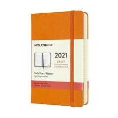 Žepni dnevni planer 2021 Moleskine, trde platnice, 12 mesecev, kademijevo oranžen