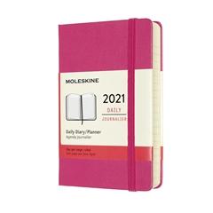 Žepni dnevni planer 2021 Moleskine, trde platnice, 12 mesecev, roza