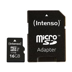 Spominska kartica Intenso microSDXC, 16 GB + SD adapter