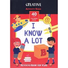 Knjiga Creative z nalogami za spodbujanje otroških spretnosti, 40 listov