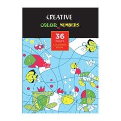 Pobarvanka Creative, Barvaj s števili, 36 listov