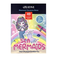 Pobarvanka Creative, Morske deklice, 40 listov