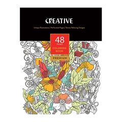 Pobarvanka Creative za odrasle, Premium, 48 listov