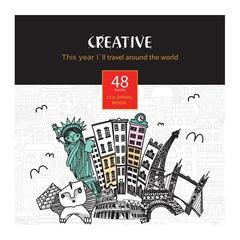 Pobarvanka Creative, Svet, 48 listov