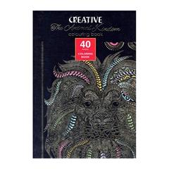 Pobarvanka Creative za odrasle, Živali, 40 listov